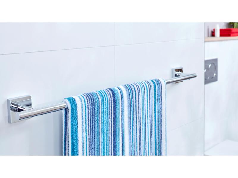 Tesa Ekkro handdoekhouder chroom zelfklevend 50x645x50 mm