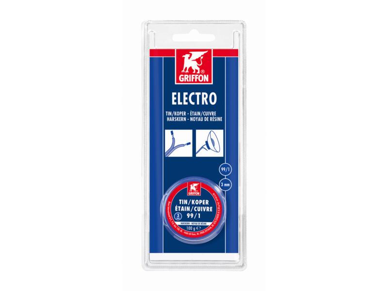 Electro draadsoldeer Tin/Koper 99/1 harskern 3mm 100g