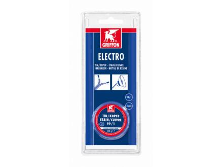Electro fil de soudure étain-cuivre 99/1 noyau de résine 3mm 100g
