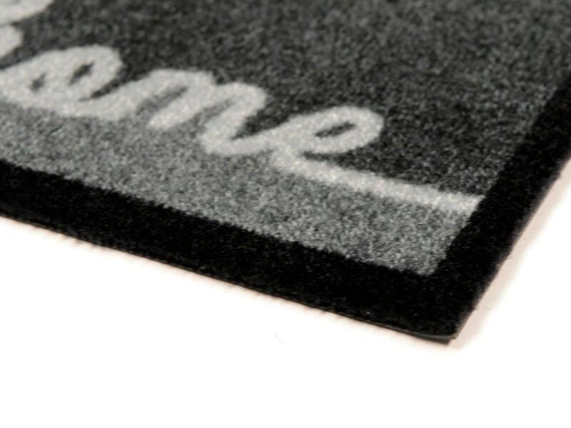 Elegance paillasson antisalissures home 40x60 cm gris