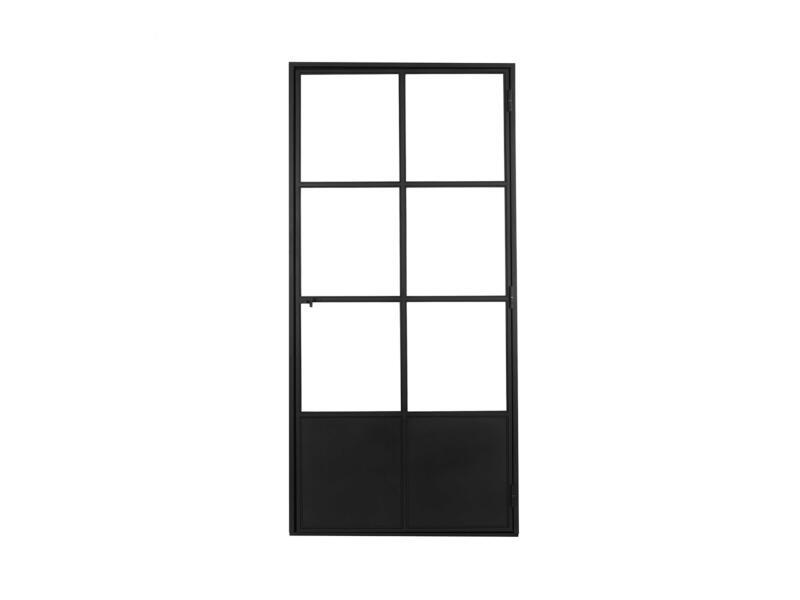 Solid Elegance porte intérieure en acier droite 6 vitrages 201x83 cm