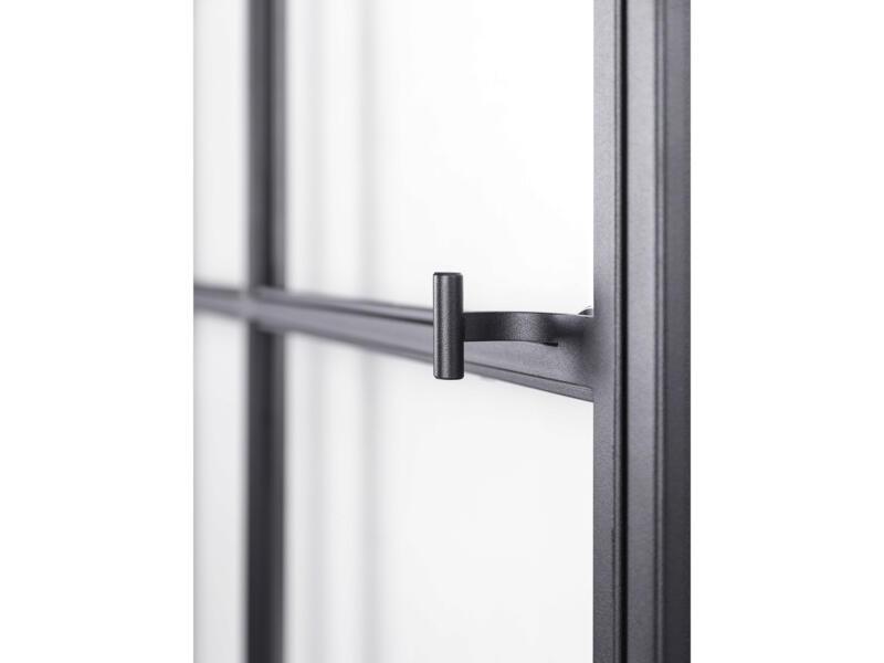 Solid Elegance porte intérieure en acier gauche 8 vitrages 201x83 cm