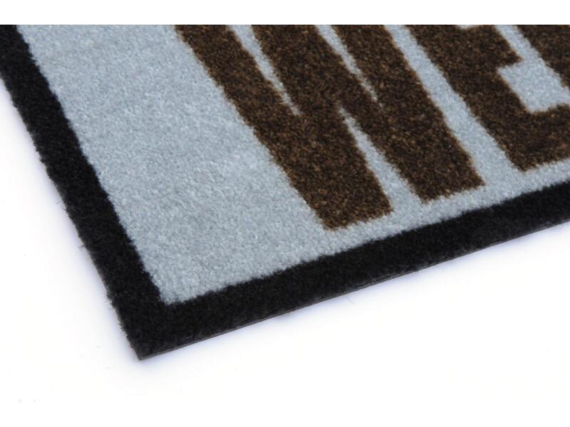 Elegance voetmat uil 40x60 cm grijs