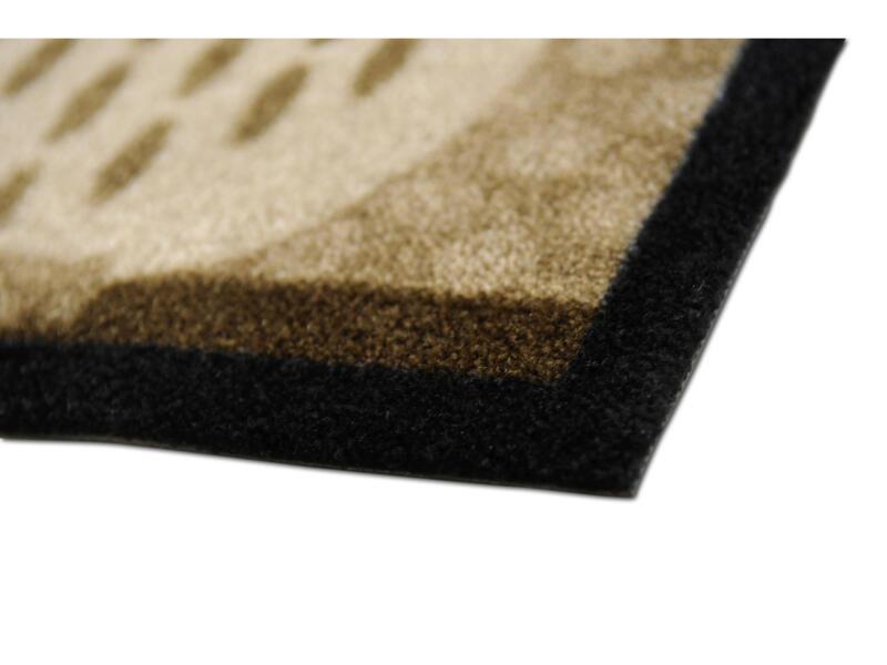 Elegance voetmat uil 40x80 cm beige