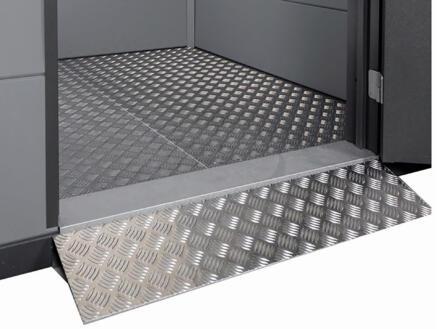 Telluria Eleganto rampe d'accès double porte 180cm métal