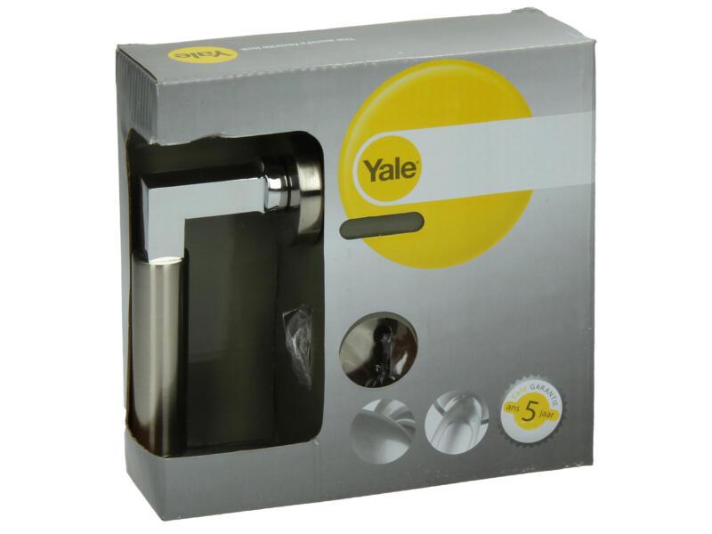 Yale Elena BB poignée de porte avec rosaces 51mm set complet nickelé mat