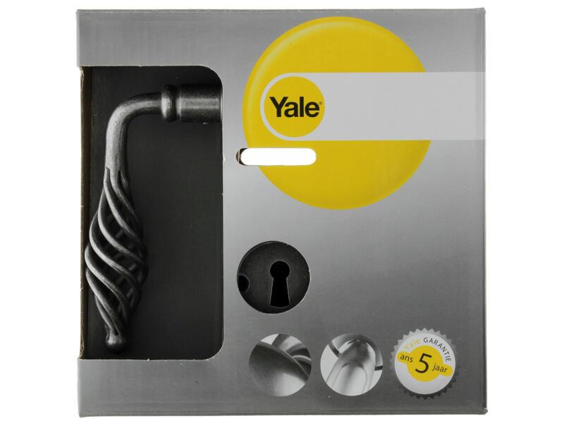 Yale Ellion BB deurklinkset staal grijs