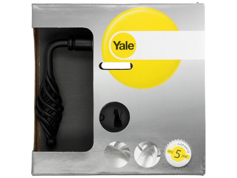 Yale Ellion BB poignée de porte set complet acier noir