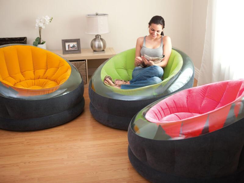 Intex Empire fauteuil gonflable 112x109x69 cm 3 couleurs