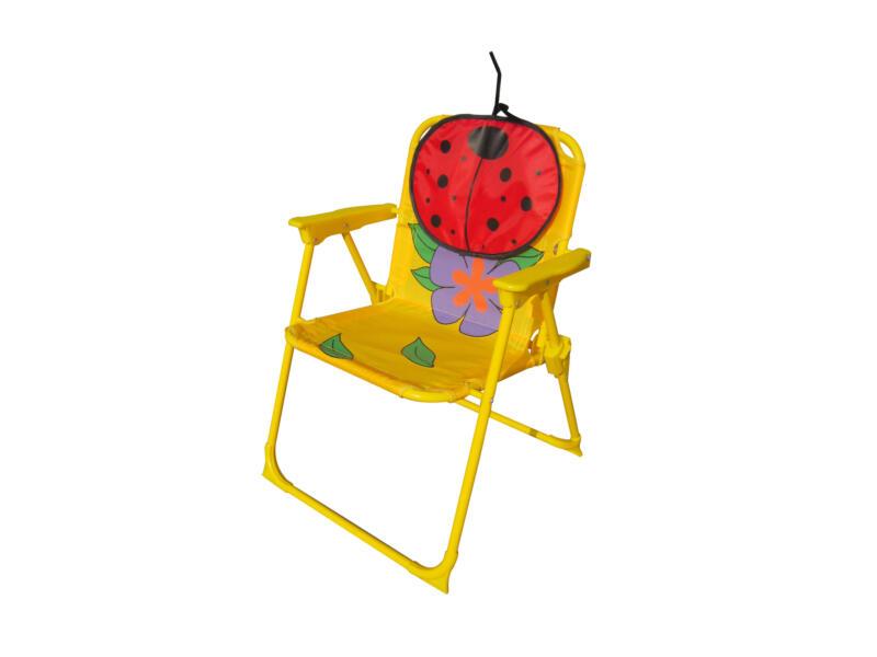 Ensemble de jardin enfants avec 2 chaises coccinelle rouge