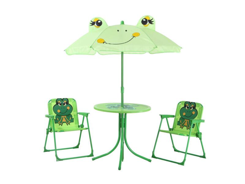 Ensemble de jardin enfants avec 2 chaises grenouille