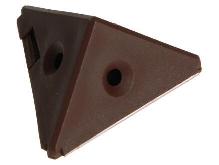 Équerre d'assemblage 3 faces brun 4 pièces