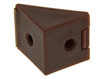 Équerre d'assemblage étroit brun 4 pièces
