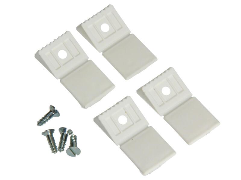 Équerre d'assemblage mini blanc 4 pièces