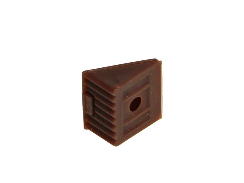 Équerre d'assemblage mini brun 4 pièces