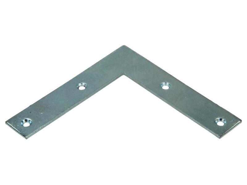 Équerre plate 100x100x20x2 mm 8 pièces