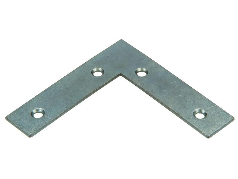 Pgb-fasteners Équerre plate 75x75x18 mm 20 pièces