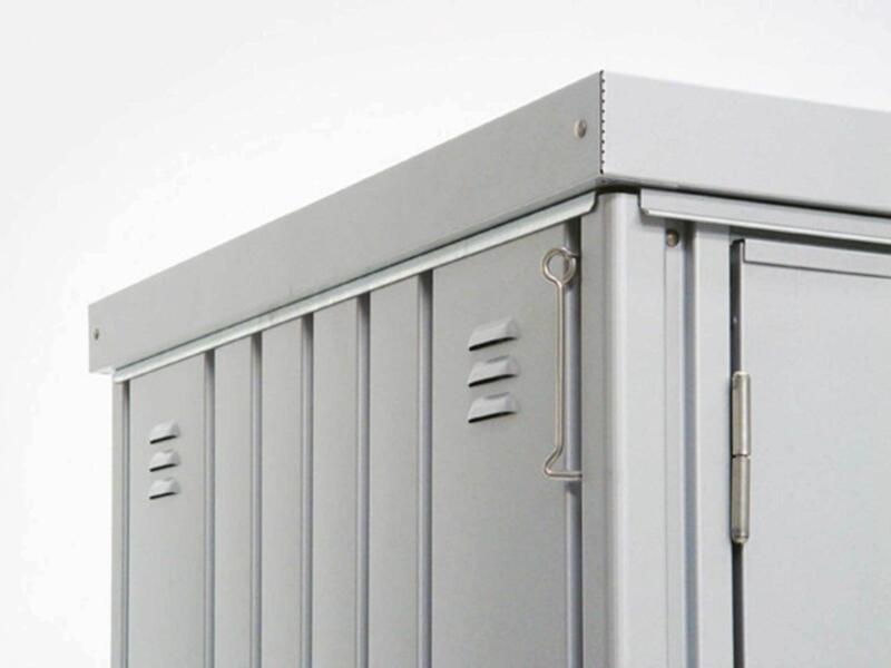 Biohort Equipment Locker 150 armoire de jardin 155x83x182,5 cm argent métallique
