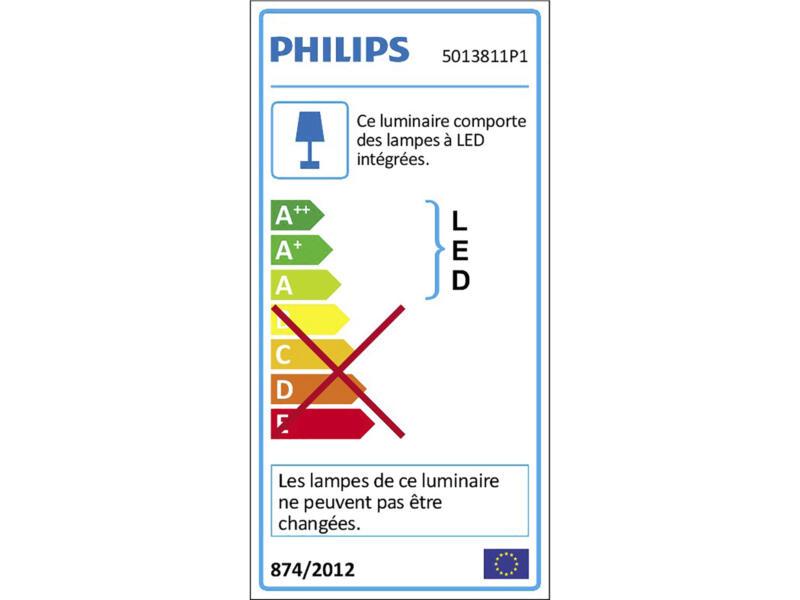 Philips Espimas barre de spots 4x4,3W chrome