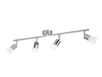 Philips Essentials Decagon barre de spots LED 4x4,3W chrome mat