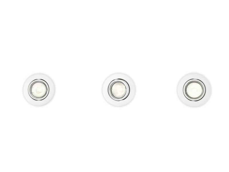 Philips Essentials Enif inbouwspot GU10 max. 3x50W kantelbaar wit