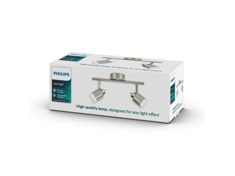 Philips Essentials Meranti balkspot GU10 max. 2x35W mat chroom