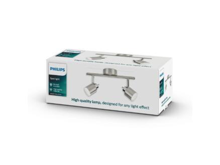 Philips Essentials Meranti barre de spots GU10 max. 2x35W chrome mat