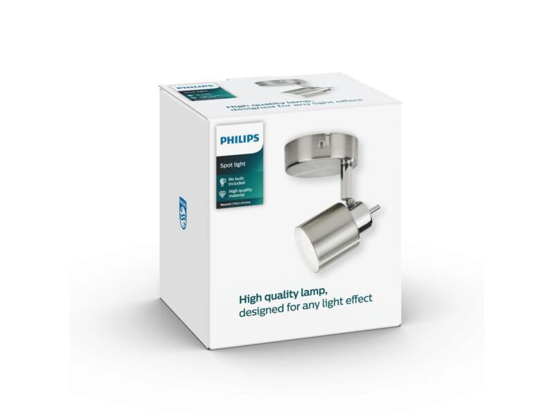 Philips Essentials Meranti wandspot GU10 max. 35W mat chroom