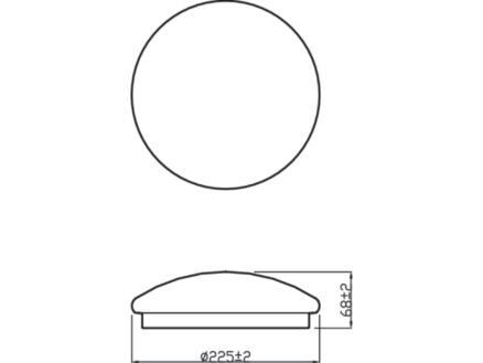 Philips Essentials Moire LED plafondlamp 6W wit