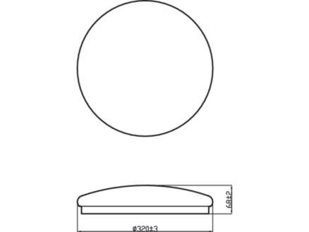 Philips Essentials Moire plafonnier LED 16W blanc