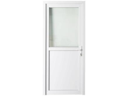 Solid Esterno E01 buitendeur rechts halfglas 200x98 cm PVC wit