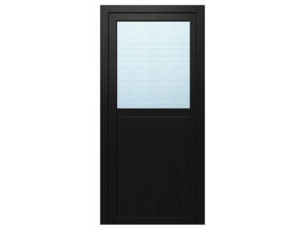 Solid Esterno E01 porte extérieure semi-vitrée ouvrant gauche 200x98 cm PVC anthracite