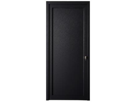 Solid Esterno E02 porte extérieure panneau plein ouvrant gauche 200x98 cm PVC anthracite