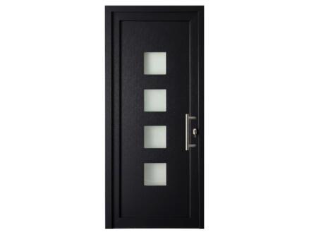 Solid Esterno E05 buitendeur rechts 4 ruitjes 200x98 cm PVC antraciet