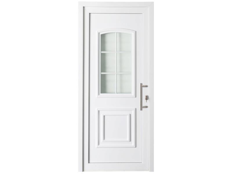 Solid Esterno E06 buitendeur links 6 ruitjes 200x98 cm PVC wit