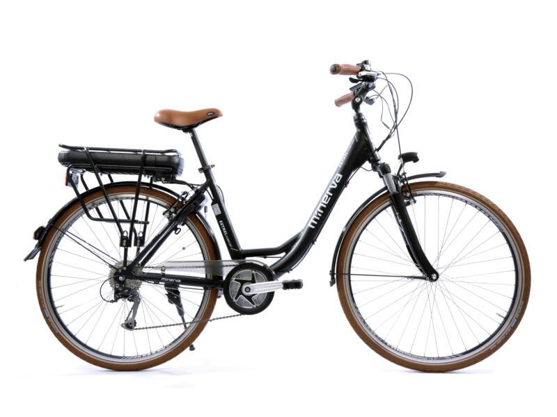 Minerva Estrel Comfort elektrische damesfiets middenmotor zwart