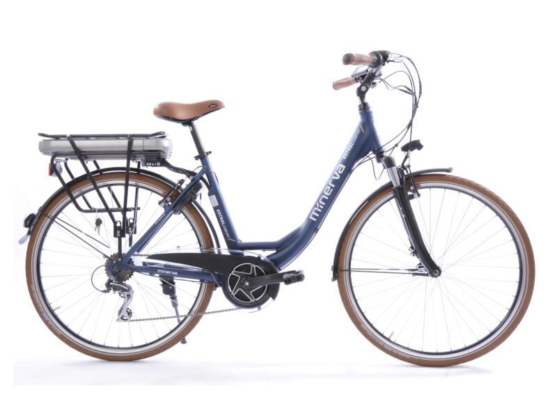 Minerva Estrel elektrische damesfiets middenmotor blauw