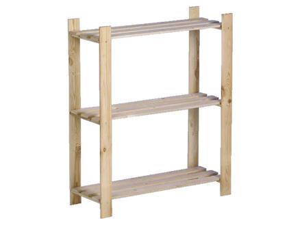 Practo Home Étagère 95x80x30 cm bois