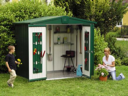 Biohort Europa 3 abri de jardin 244x156x203 cm métal vert foncé