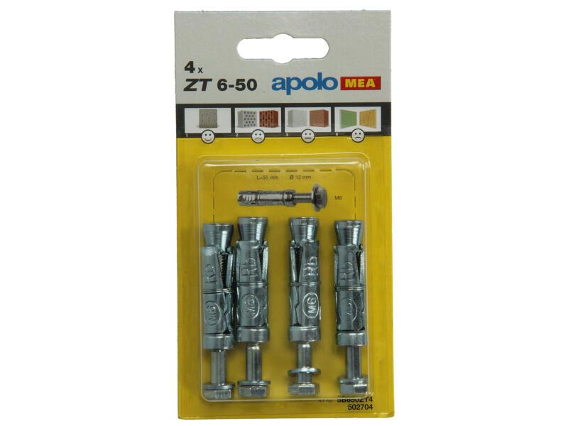 Celo Expansiepluggen ZT12 6x50 mm 4 stuks