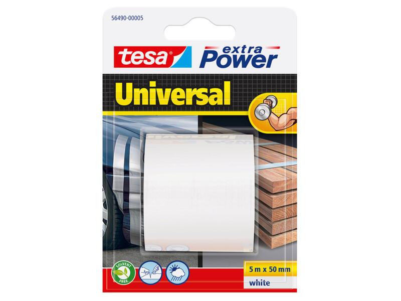 Tesa Extra Power Universal reparatietape 5m x 50mm wit