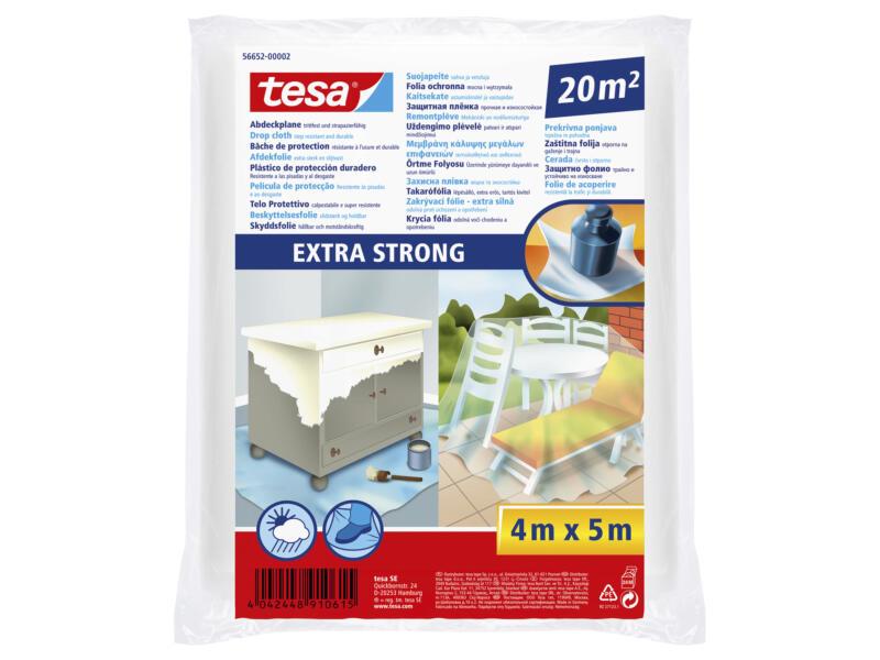 Tesa Extra Strong feuille de couverture 4x5 m transparent
