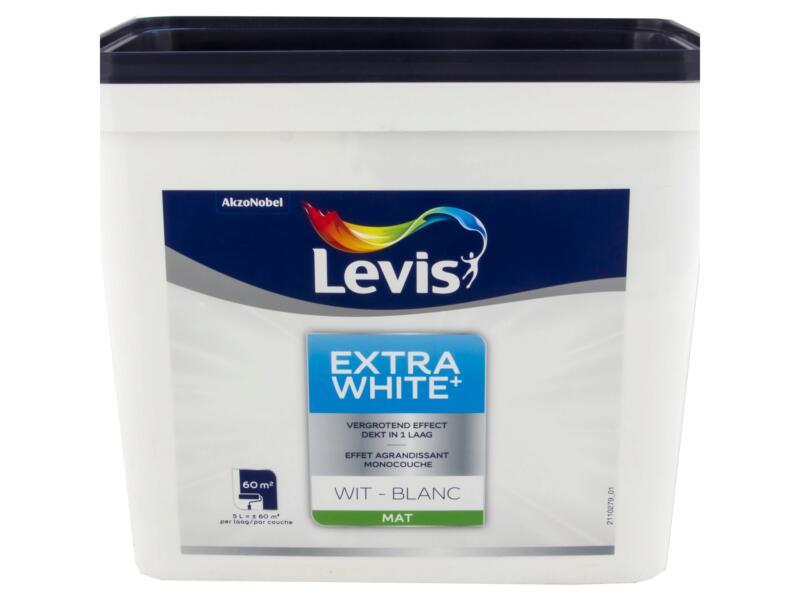 Levis Extra White+ muurverf 5l wit