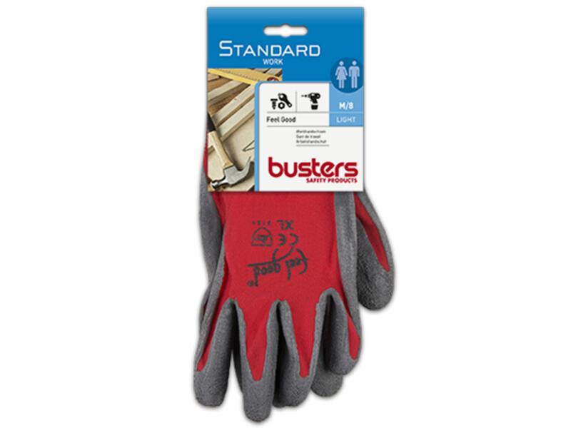 Busters Feel Good werkhandschoenen M nylon rood
