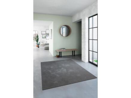 Feel vloerkleed 80x150 cm donkergrijs