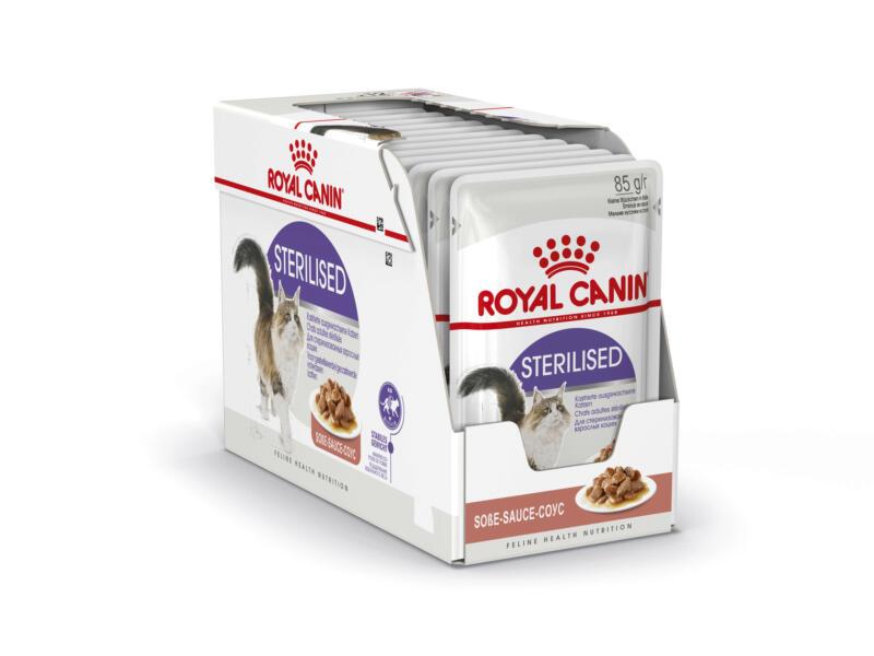 Royal Canin Feline Care Nutrition Sterilised Gravy kattenvoer 12x85 g