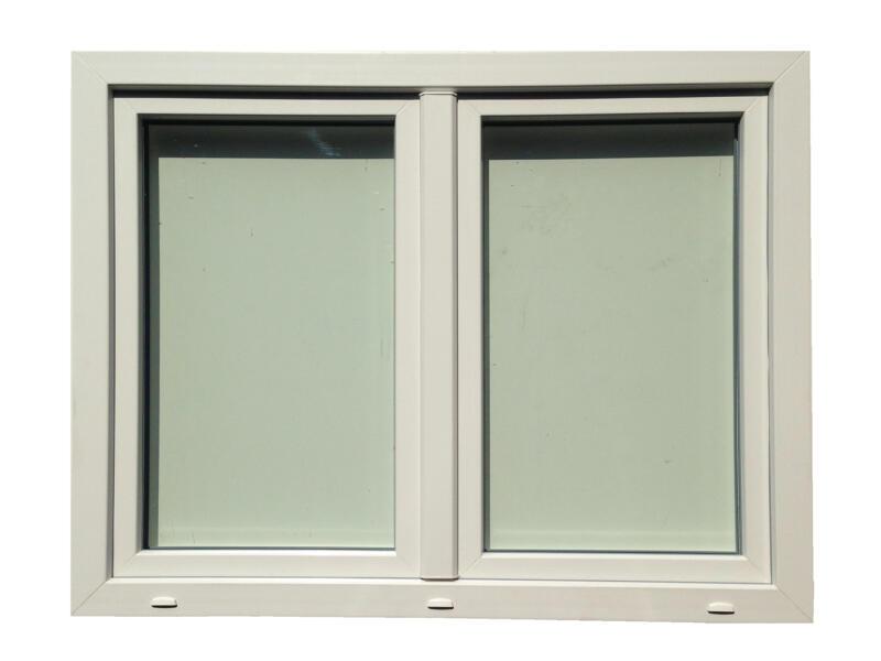 Fenêtre oscillo-battante 2 vantaux 126x118 cm PVC