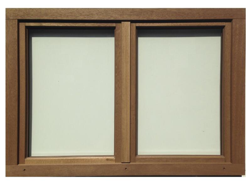 Fenêtre oscillo-battante 2 vantaux 126x98 cm bois