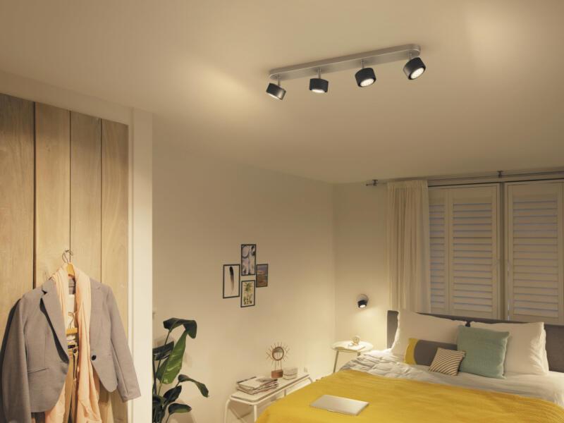 Philips Ferano LED balkspot 4x4,3 W zwart