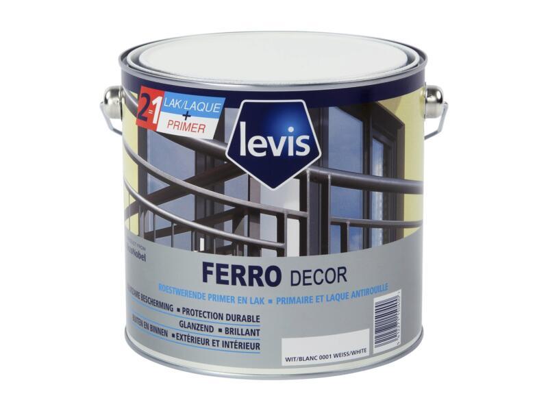 Levis Ferro decor lak en primer hoogglans 2,5l wit